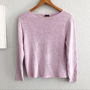 Eileen Fisher Lilac Silk Blend Knit Sweater